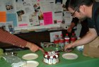 We surprised curator Carleton Christy with a cake for his faux 24th birthday
